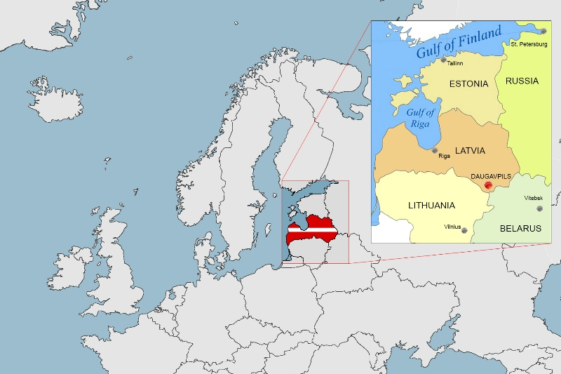 Daugavpils Latvia Location for Russian immersions