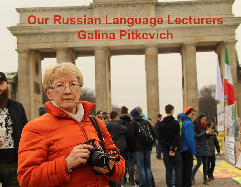 Our Russian Language Lecturers – Galina Pitkevich