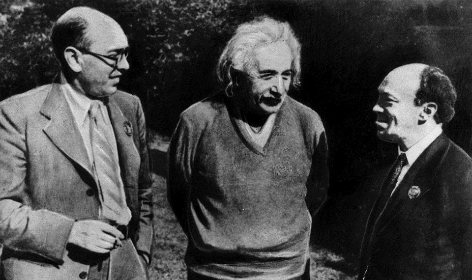 Solomon Mikhoels and Albert Einstein