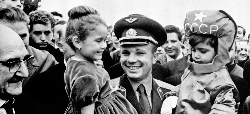 The first people who welcomed Yuri Gagarin back to the Earth