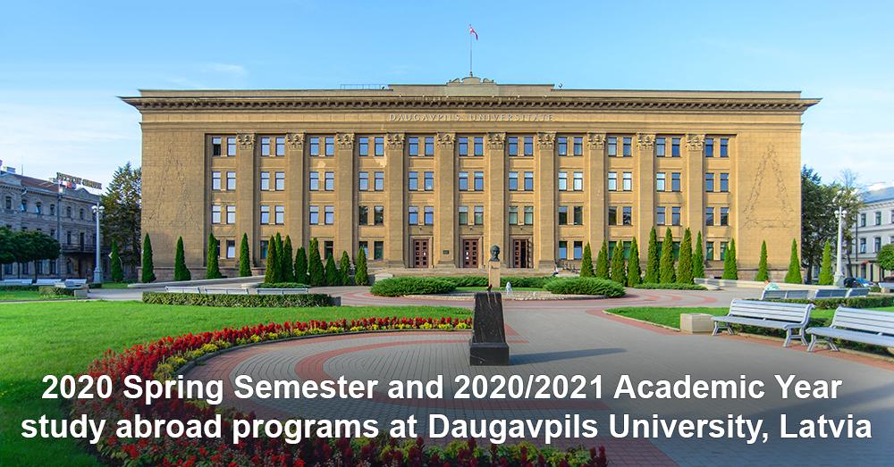 2020 Spring Semester and 2020/2021 Academic Year study abroad programs at Daugavpils University, Latvia