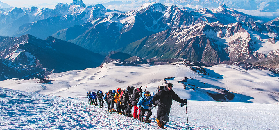 Highest Mountains in Russia - Mount Elbrus