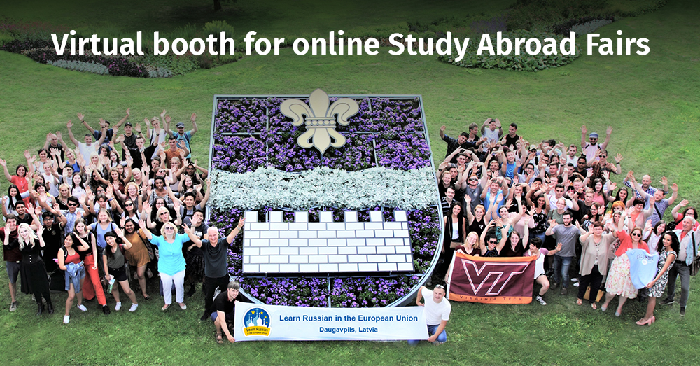 Virtual booth for online Study Abroad Fairs