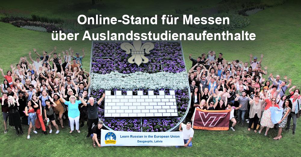 Online-Stand für Messen über Auslandsstudienaufenthalte